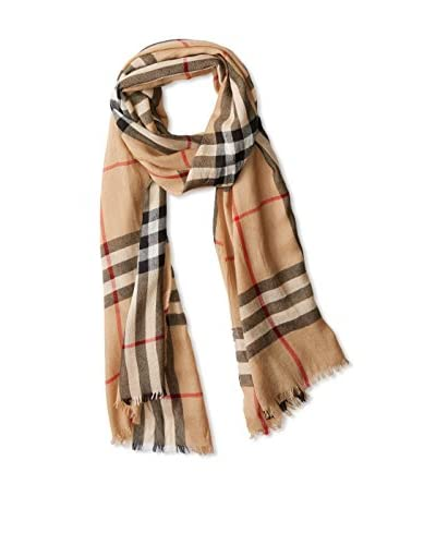 Burberry Women's Fine Crink Giant Trench Cashmere Scarf 3924752, Smoked Check