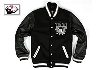 Oakland Raiders Mitchell & Ness Wool Jacket by Mitchell & Ness