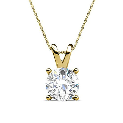 PARIKHS-Round-Diamond-Solitaire-Pendant-Popular-Quality-Yellow-Gold-005-ct-I2-clarity