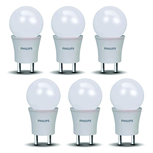 0.5 W Plug and Play Plastic LED Bulb (Cool Day Light, Pack of 6)