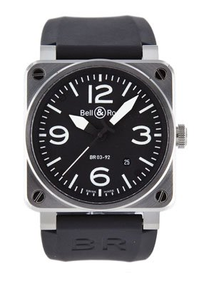 Bell & Ross Instrument Mens Auto Stainless Steel #BR-03-92-STEEL