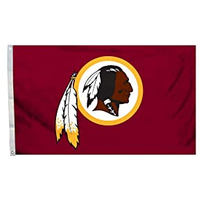 NFL Washington Redskins Logo Flag with Grommets, 3 x 5-Foot by BSI