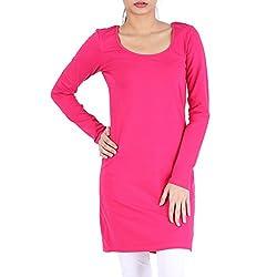 Avarnas Women's Tunic (AVTU019PNS_Pure Pink_32)