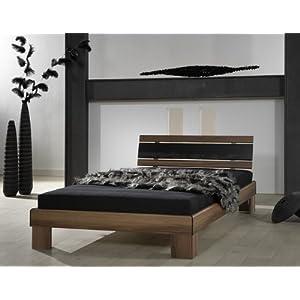 Komplett Bett Noce Nussbaum 120x200cm inkl. Rost und Matratze 120cm