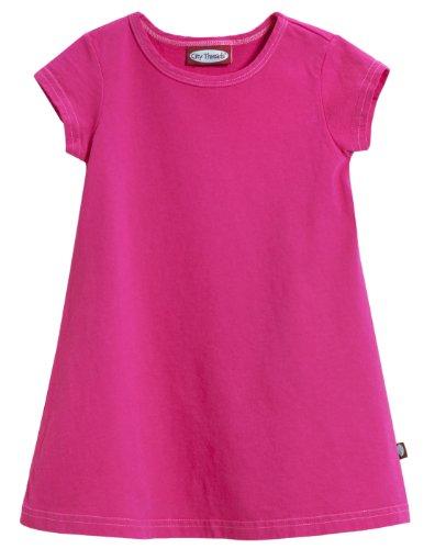 City Threads Cotton Short Sleeve Dress - Hot Pink - 12/18M front-560547