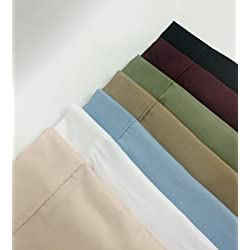 Multiple Colors - King/California King Attached Waterbed Sheet Set- 1500 Collection- Super Soft- Wrinkle Resistant Microfiber with Pole Attachments-Ivory - Exclusively by BlowOut Bedding RN#142035