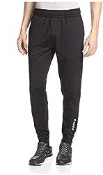 Kappa Men's Active Performance Training Slim Pant, Black, S