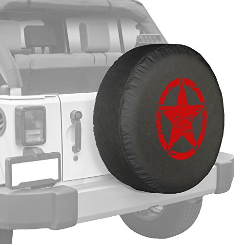 Red Print Oscar Mike Star Spare Tire Cover