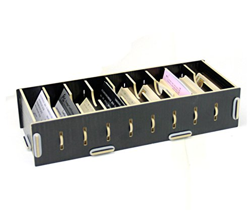 Elife black wood diy 9 section note paper business name card elife black wood diy 9 section note paper business name card collection holder sorter desk colourmoves