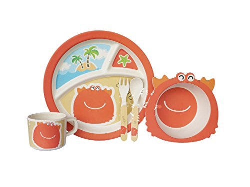 Bamboo Fiber Funny Kids Set Crab Bpa Free, Non-Toxic [Free Baby Meal Organic Supplement]