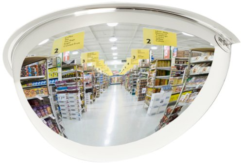 See All PV18-180 Panaramic Full Dome Plexiglas Security Mirror, 180 Degree Viewing Angle, 18