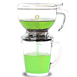 Zen Formosa Perfect Tea Maker for Loose Leaf Tea and Coffee Instant Brew Hot Sweet Flower Chai