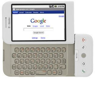 T-Mobile G1 - Smartphone - 3G - WCDMA (UMTS) / GSM - touch / slide-out keyboard - Android - white - T-Mobile (T Mobile G1 compare prices)