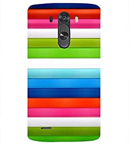 PrintVisa Stripes Pattern 3D Hard Polycarbonate Designer Back Case Cover for LG G3 MINI