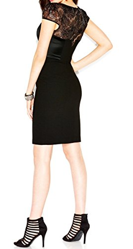 Betsey Johnson Embellished Illusion Lace Womens Sheath Dress