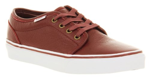 Vans 106 Vulcanized Leather Tawny Port Red Exclusive - 5 Uk