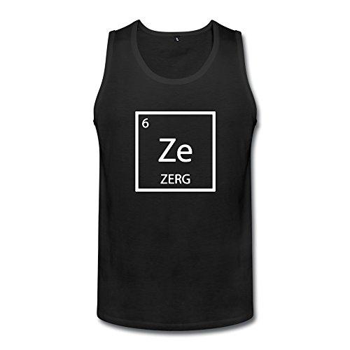MZONE Men's Cute Starcraft 2 Legacy Of The Void Zerg Logo Waistcoat Black Size M