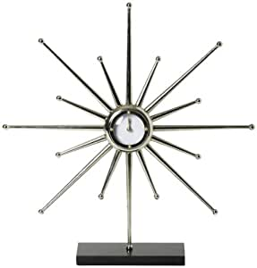 Global Views Star 21-Inch by 4-Inch by 22-Inch Desk Clock, Large