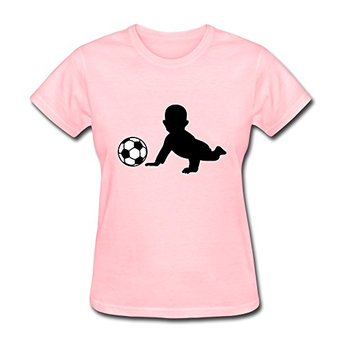 100% Cotton Vintage Fussball Baby T-Shirt For Woman - Round Neck front-508657