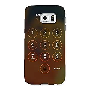 Delighted Passcode Back Case Cover for Samsung Galaxy S6