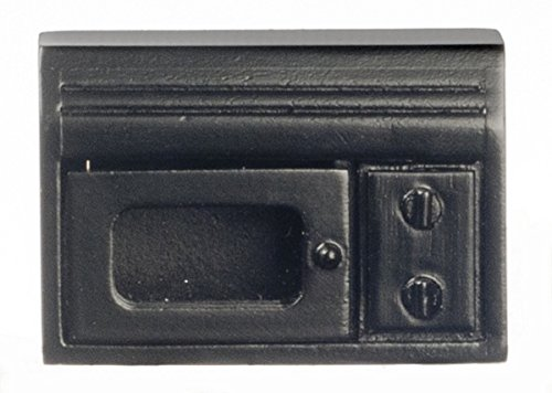 Dollhouse Miniature 1:12 Scale Black Microwave #T4753