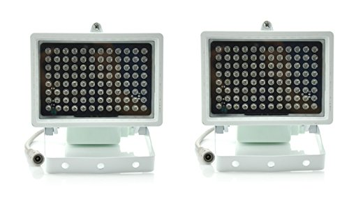 Aweek® 2 Pack 96 Leds IR Illuminators Light IR Infrared Light LED infrared light CCTV Camera Night-vision Fill Light for CCTV Security Camera, Standard 45° Level Angle Visual Range