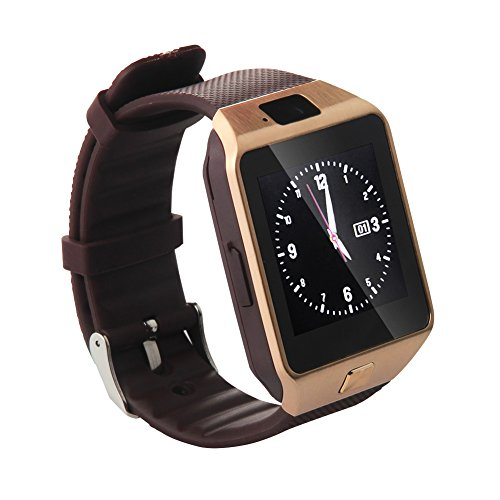 Soyan Latest DZ09 Watch Phone Bluetooth Smart watch Camera Watch WristWatch With Camera and Protective Film Mate For Android Phones(Full functions) (Gold)