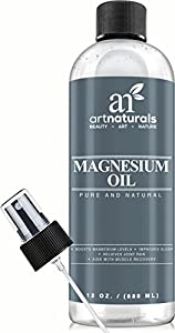 Art Naturals Magnesium Oil 12 Oz - Best Natural Deodorant - Reduces Migraines | Sore Muscle and Joint Relief
