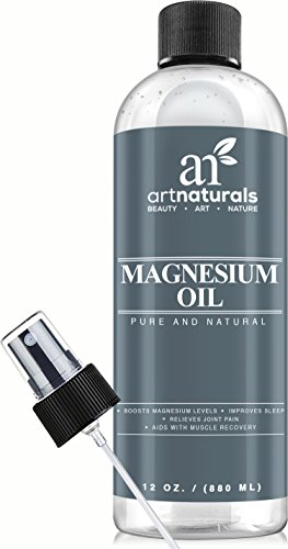 Big Save! Art Naturals Magnesium Oil 12 Oz - Best Natural Deodorant - Reduces Migraines | Sore Muscl...