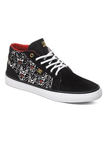 DC Women's Council Mid X TR Skate Shoe, Black Print, 9.5 M US