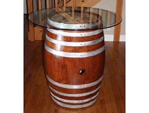 Decorative Table - Wine Barrel With Glasstop (Wine Barrel Table Glass compare prices)