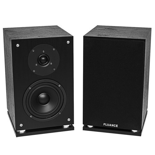 Fluance SX6-BK High Definition Two-way Bookshelf Loudspeakers-Black