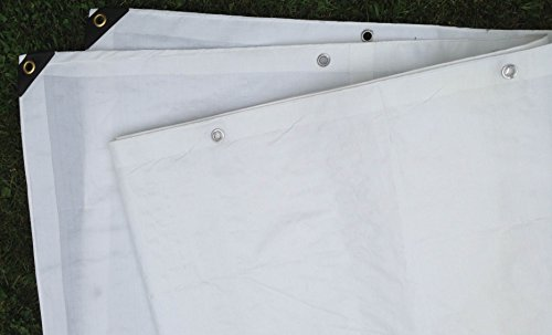 Best Deals! 6 Ft. X 8 Ft. Heavy Duty 6 Oz. White Tarp 11-12 Mil Thick
