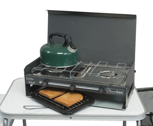 SunnGas Little Chef Double Burner  &  Grill
