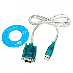 Generic USB 2.0 to RS232 Serial 9 Pin DB9 Cable