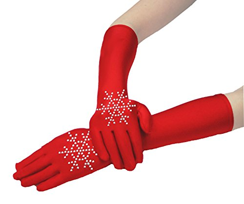 Christmas Snowflake Santa Claus Princess Gloves Costume Dress Cosplay Party 12""