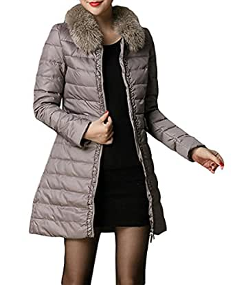 hengda damen daunenmantel mantel winter daune lang edelste steppmantel khaki xl. Black Bedroom Furniture Sets. Home Design Ideas
