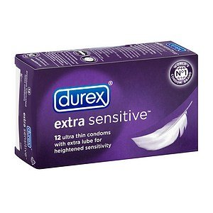Durex Durex Lubricated Latex Condoms, Extra Sensitive 12 ct (Quantity of 3)
