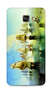 Amez designer printed 3d premium high quality back case cover for Samsung Galaxy A7 (2016 EDITION) (Pirate Ships Navy)