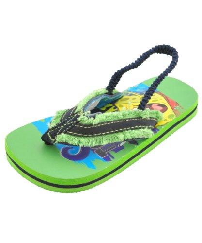 "Spongebob Squarepants Boys ""Fraybob"" Flip-Flops - Green, 9/10 front-1063466"