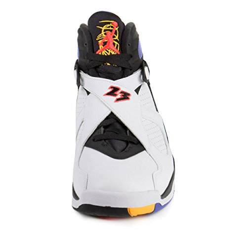 Nike Jordan Men's Air Jordan 8 Retro White/Infrrd 23/Blk/Brght Cncr Basketball Shoe 9.5 Men US
