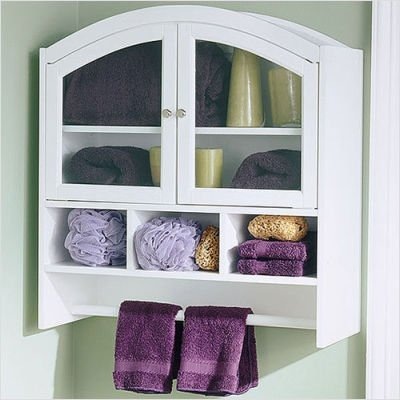 Bathroom Wall Cabinet on Bathroom Wall Cabinets  White Arch Top Bathroom Organizer Wall Cabinet