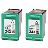2x HP 343 Colour Remanufactured Ink Cartridges For Deskjet 460c 460cb 460wbt 460wf 5740 5745 6520 6540 6540d 6620 6840 9800 9800d H470 H470b H470wbt 6205 6210 6215 K7100 7210 7310 7410 PSC 1507 1510 1510s 1600 1610 2350 2355 2355p 1600 1610 Photosmart 25