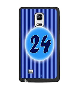 PrintDhaba Numerology Number 24 D-2582 Back Case Cover for SAMSUNG GALAXY NOTE EDGE (Multi-Coloured)