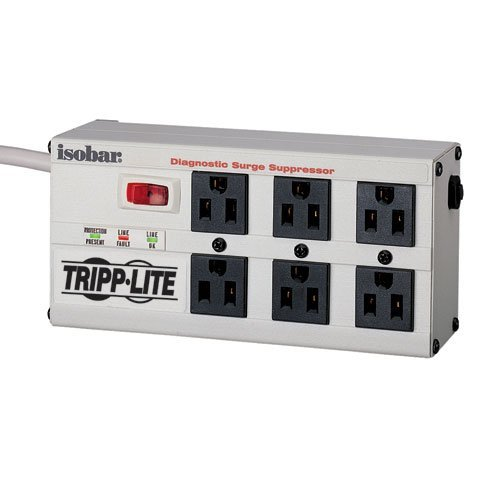 Consumer Electronic Products Tripp Lite Isobar6Ultra Isobar Surge Protector Metal 6 Outlet 6Ft Cord 3330 Joules Supply Store