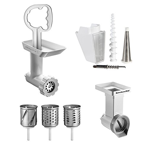 KitchenAid FPPC Mixer Attachment Pack; Grinder/ Mincer, Slicer/ Shredder, Fruit & Vegetable Strainer from Kitchenaid