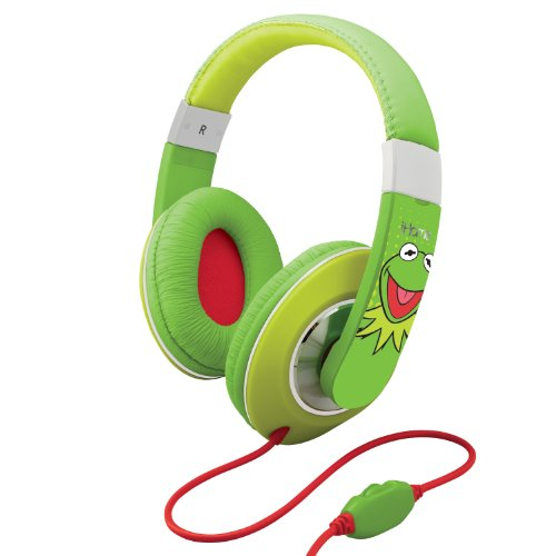 Ekids Kermit The Frog Over The Ear Headphones With Volume Control, By Ihome - Dk-M403
