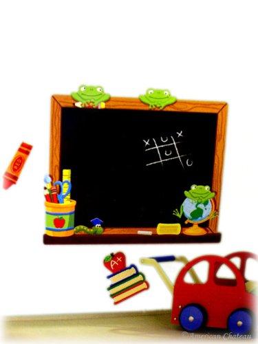 Kids Wall Sticker Mural Room Decor Frogs Art Decal Blackboard Chalk Board