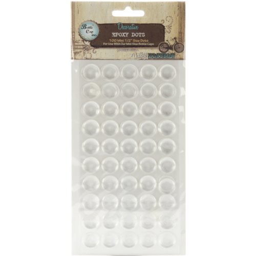 "Vintage Collection Epoxy Dots 1/2"" 100/Pkg-"