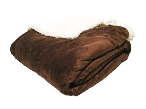 Northpoint Cuddly Solid Color Microsherpa Throw front-890896